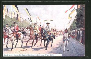 Künstler-AK C. Benesch: Wien, Kaiser-Jubiläums-Huldigungs-Festzug 1908