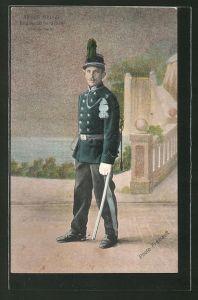 AK Armée Belge, Regiment de Train, Grande tenue, Uniform