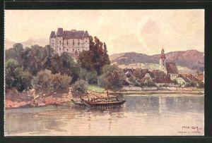 Künstler-AK Fritz Lach: Grein, Schloss Greinburg