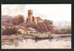 Künstler-AK Fritz Lach: Schloss Weitenegg