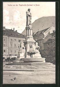 AK Bozen, Walter von der Vogelweide-Denkmal