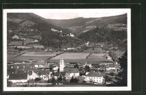 AK Unzmarkt-Frauenburg, Gesamtansicht aus der Vogelschau