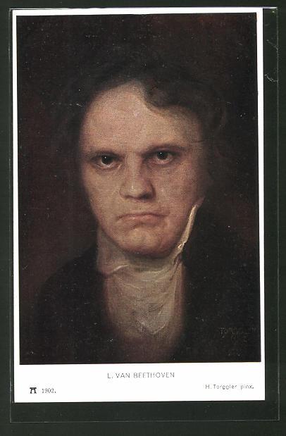 Künstler-AK Hermann Torggler: Porträt Ludwig van Beethoven