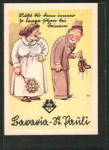 AK Hamburg, Frau und Mann, Bavaria und St. Pauli Brauerei