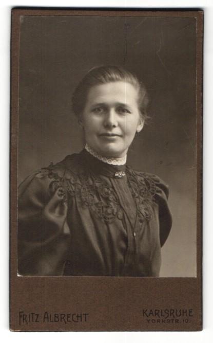 Fotografie Karlsruhe fotografie august wilhelm albrecht northeim portrait bürgerliche dame in zeitgenössischer