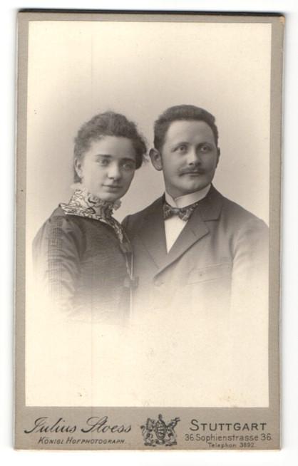 Fotografie Julius Stoess, Stuttgart, Portrait junges Paar