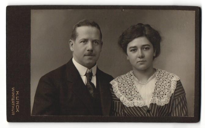 Fotografie H. Linck, Winterthur, Portrait bürgerliches Paar
