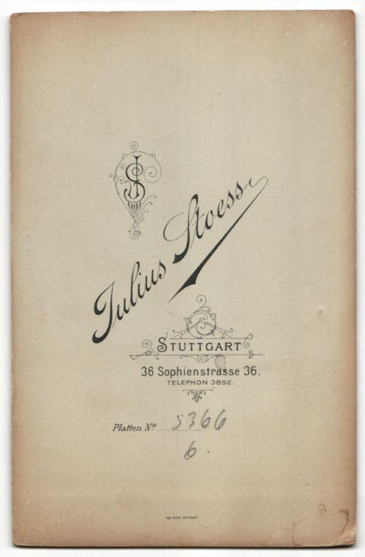 Fotografie Julius Stoess, Stuttgart, Portrait bürgerliche Eheleute 1