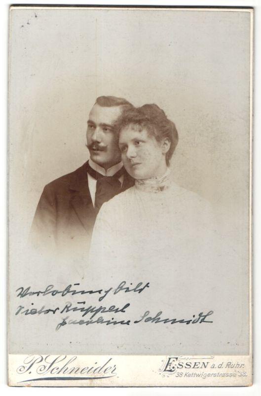 Fotografie P. Schneider, Essen a/d Ruhr, Portrait junges bürgerliches Paar 0