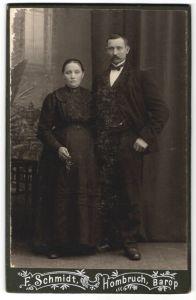 Fotografie F. Schmidt, Hombruch, Barop, Portrait bürgerliches Paar 0