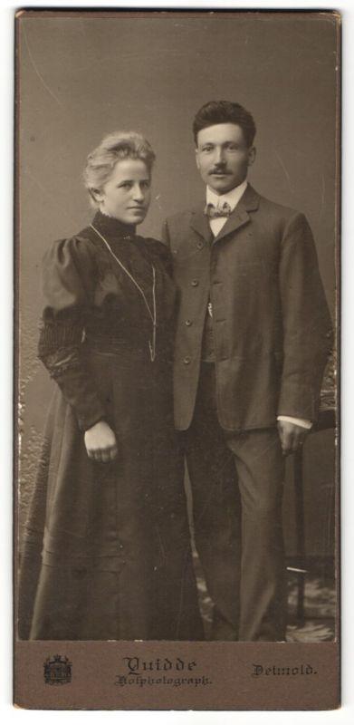 Fotografie Quidde, Detmold, Portrait bürgerliches Paar