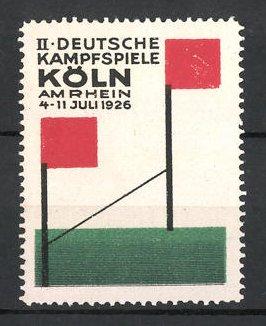 Reklamemarke Köln, II. Deutsche Kampfspiele 1926, Ziellinie, Zieleinlauf