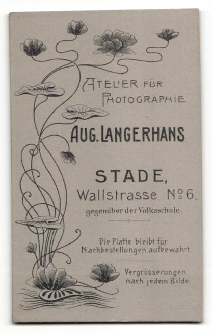 Fotografie A. Langerhans, Stade, Portrait bürgerliches Paar 1