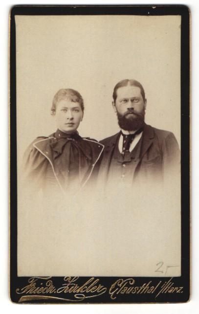 Fotografie Friedr. Zirkler, Clausthal i/H, Portrait gutbürgerliches Paar