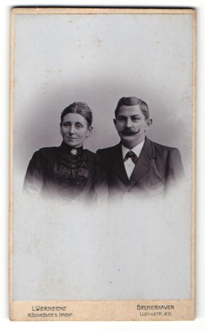 Fotografie Wernecke, Bremerhaven, Portrait gutbürgerliches Paar