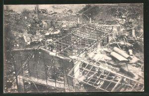 AK Witten, Trümmer der Roburitfabrik nach der Explosion