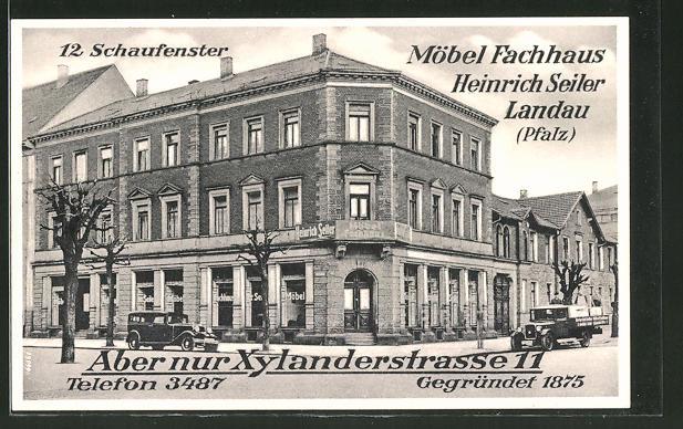 Ak Landau Möbel Fachhaus Heinrich Seiler Xylanderstrasse 11 Nr