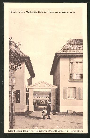 AK Berlin-Britz, Kleinhaussiedlung der Baugenossenschaft