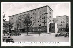 AK Berlin-Wilmersdorf, St. Gertrauden Krankenhaus, Paretzer Strasse Ecke Brabanter Platz