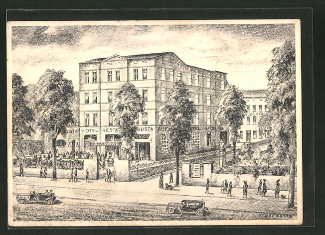 Künstler Augsburg künstler ak augsburg hotel restaurant augusta fuggerstrasse 3 nr