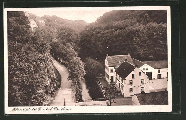 AK Oberrödinghausen, Gasthof Platthaus