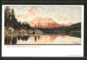 Künstler-AK Otto Strützel: Berchtesgaden, Partie am Hintersee