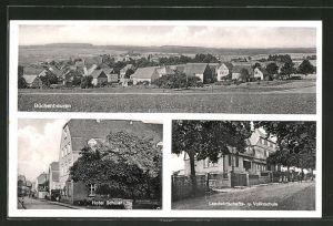 AK Büchenbeuern, Gesamtansicht, Hotel Schüler, Landwirtschafts- & Volksschule