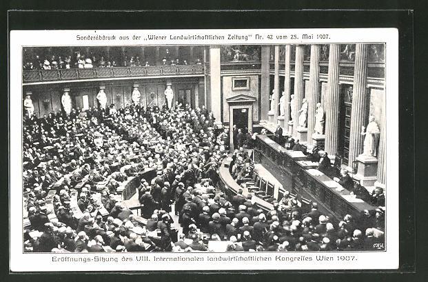 AK Wien, Eröffnungs-Sitzung des VIII. Internationalen landwirtschaftlichen Kongresses 1907