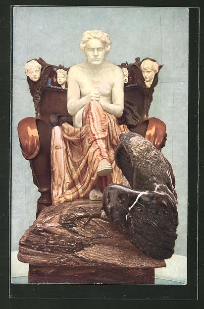 Künstler-AK Max Klinger: Statue Ludwig v. Beethoven