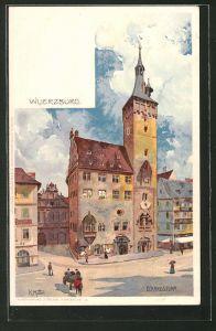 Künstler-AK Karl Mutter: Würzburg, Partie am Eckardsturm