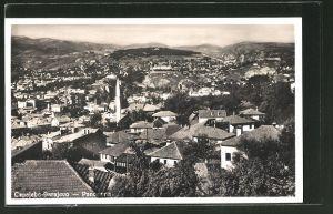 AK Sarajewo, Panoramablick über die Dächer der Stadt