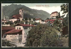 AK Schönna, Teilansicht mit Blick auf Kirche und Schloss