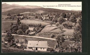 AK Ober-Agnetendorf, Ortsansicht mit Blick auf die Schneegruben-Baude