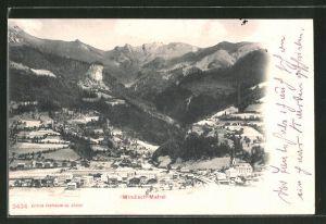 AK Windisch-Matrei, Ortsansicht gegen das Gebirge
