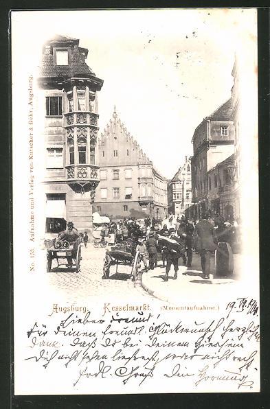 AK Augsburg, Strasse am Kesselmarkt