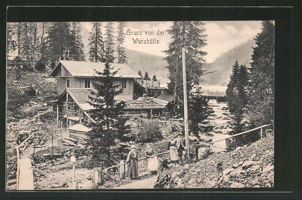 AK Schliersee, blick auf die Wurzhütte