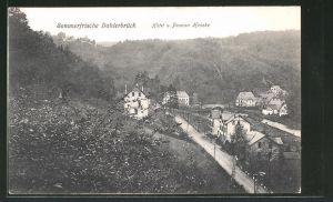 AK Dahlerbrück, Teilansicht mit Hotel-Pension Hencke