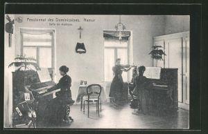 AK Namur, Pensionnat des Dominicaines, Salle de musique