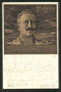 Künstler-AK Bruno Heroux: Porträt Kaiser Wilhelm II.