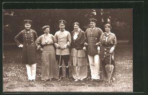 AK Prinz August Wilhelm von Preussen, Prinzessin Eitel Friedrich, Kronprinz