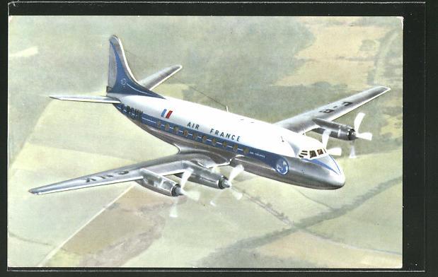 AK Flugzeug der Air France Vickers