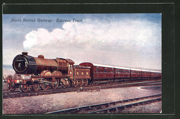 AK North British Railway-Express Train, englische Eisenbahn