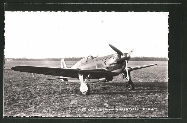AK Morane-Saulnier 406 Flugzeug auf der Startbahn
