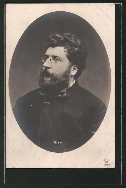AK Porträt des Komponisten Bizet