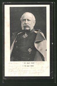 AK König Albert von Sachsen in Uniform mit Ritterkreuz