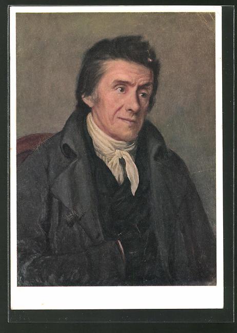 AK Portrait des Pädagogen Johann Heinrich Pestalozzi