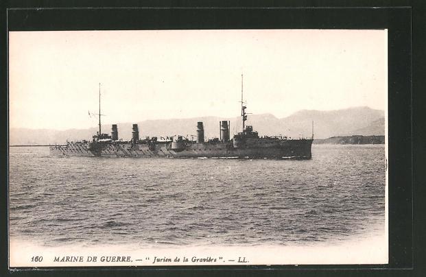 AK Kriegsschiff Jurien de la Gravière, Kriegsschiff