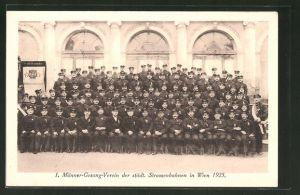 Foto-AK Wien, I. Männer-Gesang-Verein der städt. Strassenbahnen 1925