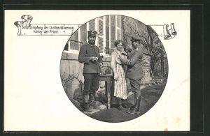 AK Schutzimpfung der Civilbevölkerung hinter der Front