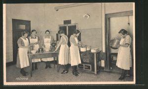 AK Karlsruhe, St. Franziskushaus, Haushaltungsschule St. Klara, Grenzstrasse 7, Küche